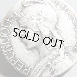 フランス アンティーク フランスを象徴する自由の女神 マリアンヌ シルバーメダル / Adolphe Rivet 作 27mm(チェーン有。無し-300円引き)