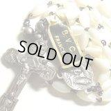 【バーゲン】【未使用品】フランス ヴィンテージ 真珠貝のロザリオ【首掛けサイズ】