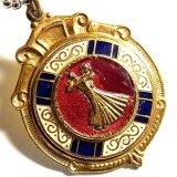 イギリス ヴィンテージ 演舞会ダンス エナメルメダル 1940年代(チェーン有。無し-300円引き)