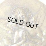 【大型サイズ】フランス アンティーク 天使のお祈りのメダル 19世紀 LEJIEL作