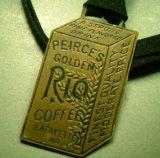 アメリカ アンティーク コーヒー飲料の懐中時計用飾り1920-30年代製  (布ヒモ付・無し-300円)