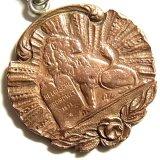 【バーゲン】ベルギー アンティーク ライオンとベルギー王アルバート一世モノグラム メダル 22mm(チェーン有。無し-300円引き)