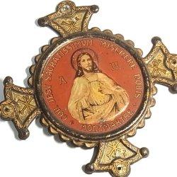 画像1: 【バーゲン】フランス パリ モンマルトル(MONTMARTRE) ヴィンテージ 聖イエス イエスのみ心 プレート12cm