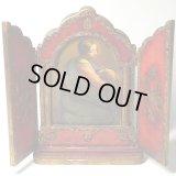 【バーゲン】イタリア アンティーク3枚続きの祭壇画 【大サイズ:21センチ】