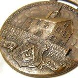 【参考画像有り】【希少】アメリカ アンティーク フリーメイソン ブロンズ ウオッチフォブ(懐中時計の飾り) メダル 38mm