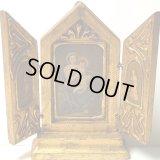 【バーゲン】イタリア アンティーク3枚続きの祭壇画 【小サイズ:13.5センチ】