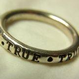 """""""現実となれ!夢よ叶え!TRUE TRUE TRUE TRUE TRUE !""""(銀製)ヴィンテージ  リング サイズ:12号"""
