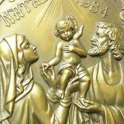 画像3: 【バーゲン】【特大型 100mm】ポルトガル 聖イエス誕生 ブロンズ メダル Cabral Antunes作