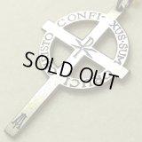 """【希少】""""私は、キリストと一緒に十字架に掛けられたのである。CHRISTO CONFIXUS SUM CRUCI""""アンティーク ケルトクロス 24×40mm(チェーン有。無し-300円引き)"""