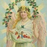 【バーゲン】【★100年以上前】★アンティーク 聖品 《天使》ポストカード (カナダコレクター・グループ36)