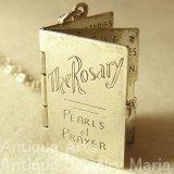 """イタリア ヴィンテージ The Rosary """"ロザリオの祈り""""チャーム 20×25mm(チェーン有り。無し-300円引き)"""