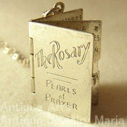 """画像1: イタリア ヴィンテージ The Rosary """"ロザリオの祈り""""チャーム 20×25mm(チェーン有り。無し-300円引き)"""