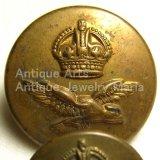 【バーゲン】第二次世界大戦当時もの カナダ空軍(Royal Canadian Air Force) ヴィンテージ ユニフォーム ボタン 《イギリス ロンドン フィルマン(FIRMIN)ハウス製》大2個、小2個セット