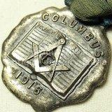 【希少】アンティーク アメリカ合衆国 オハイオ州 コロンバス 1916年 フリーメイソン 記念メダル