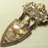 アメリカ アンティーク フリーメイソン 1935年 K T (Knights Templar) テンプル騎士団 メダルバッチ 38×71mm