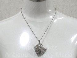 画像5: 【特大型サイズ】ヴィンテージ SILVER(銀925) 天使 3D 立体 チャーム 45×45mm(チェーン有。無し-300円引き)