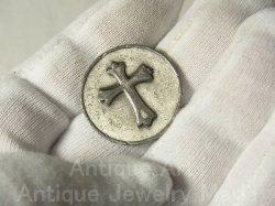 """画像5: 【バーゲン】""""神を信じるという事は、神が出来ることを知るのではなく、神の必ず行うという強い意志を知る事です。""""アメリカ ヴィンテージ お守り メダル (ポケット アムレット)25mm"""