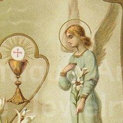画像1: 【天使】《レギュラー〜大きめサイズ》フランス アンティーク ホーリーカード (グループ281)