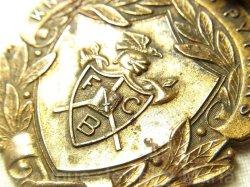 画像2: 【希少】アメリカ アンティーク 秘密結社 【Knight of Pythias ナイト・オブ・ピシャス】ウォッチフォブ(懐中時計メダル)皮ストラップ付き 33×42mm