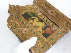 画像4: 【大型サイズ】イタリア アンティーク ピエール・ミニャール Pierre Mignard(1612-1695)作「葡萄の房を持つ聖母」3枚続きの祭壇画(高さ220ミリ)