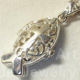 【キリスト教徒隠れシンボル】イクトゥス ヴィンテージ シルバー(銀925)魚の形をした祈願箱 14×26mm (チェーン有。無し-300円引き)