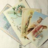 【バーゲン】欧米アンティーク・ヴィンテージ ホーリーカード&ホーリーポストカード 6枚セット(グループ283)