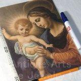 【バーゲン】【特大型サイズ(264×82mm)】 著名聖画 画布印刷 アメリカ ヴィンテージ(グループ286)