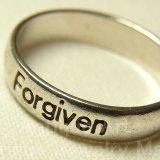 """""""神より""""罪を許された: Forgiven:フォーギブン """"ヴィンテージ シルバー(銀925製)リング  サイズ:22号"""