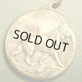 ベルギー ヴィンテージ ライオンのメダル 1914年 28×28m(チェーン有。無し-300円引き)