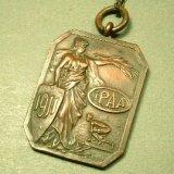 アメリカ 1911年製 アスリート メダイ(チェーン有。無し-300円引き)