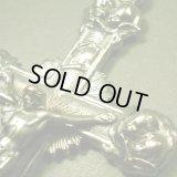 ベルギー ヴィンテージ 8人の天使のクロス 38×69mm(チェーン有。無し-300円引き)