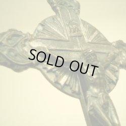 画像1: アメリカ アンティーク 自立クロス 髑髏の意匠 122×44mm